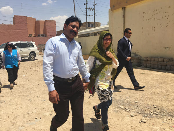 Malala and her father Ziauddin Yousafzai spent her 20th birthday near Dohuk in the Kurdistan region of Iraq. They traveled there to meet Yazidi girls and young women who are struggling to get an education.