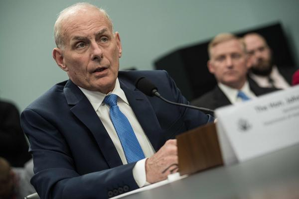Newly sworn-in White House Chief of Staff and then-Homeland Security Secretary John Kelly testifies at a House Appropriations Committee Homeland Security Subcommittee hearing on Capitol Hill in Washington on May 24, 2017. (Nicholas Kamm/AFP/Getty Images)