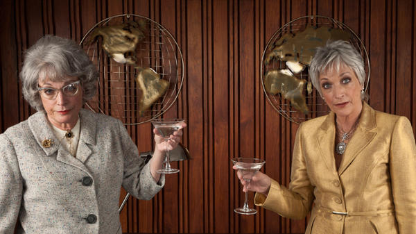 Actress Randee Heller (right) toasts Miss Ida Blankenship, the character that earned her an Emmy nomination for <em>Mad Men</em>.