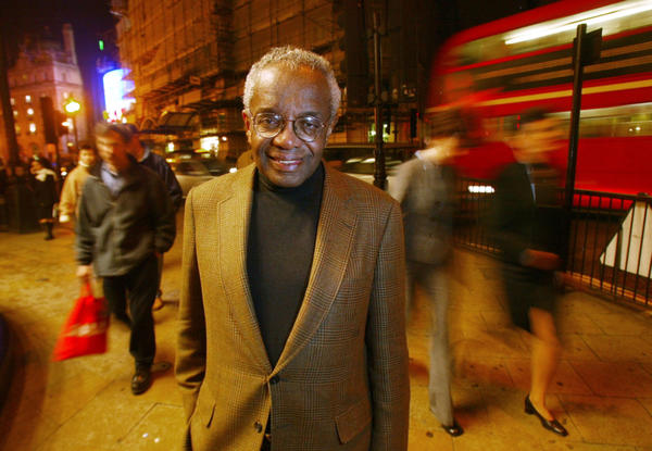 <p>Derrick Bell, the first tenured black professor at Harvard Law School, died of cancer Wednesday. He is seen here in 2002.</p>
