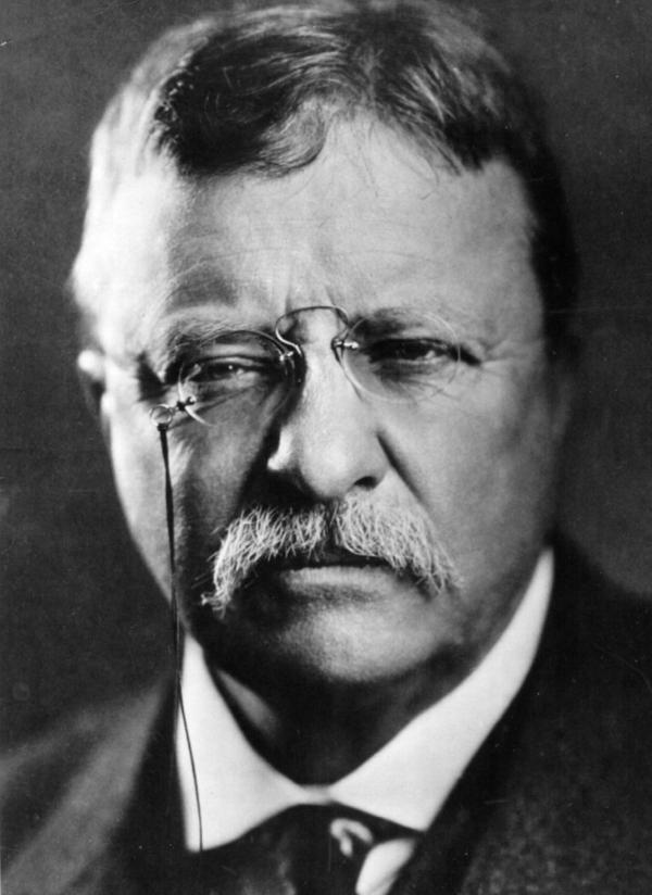 Theodore Roosevelt, twenty-sixth president of the United States serving from 1901 to 1909.