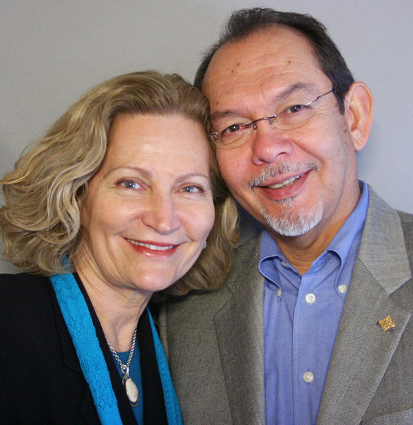 Gwendolyn Diaz and her husband, Henry Flores, at StoryCorps in San Antonio.