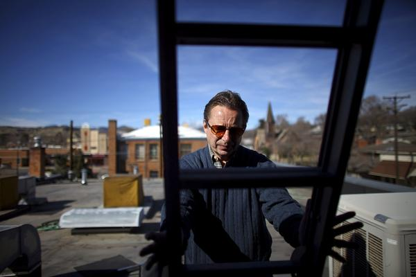Jim Rada, who works for Garfield County, Colo., has set up a series of air monitoring stations in downtown Rifle to see if the gas industry is changing air quality.