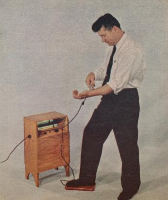 The Magnetron. Osteopath Peter D. Pauls claimed that by placing one foot on a red pad and one hand on a metal tube, patients could be treated for conditions ranging from rheumatoid arthritis to diabetes.