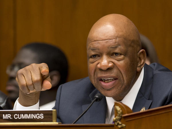 The House Oversight and Government Reform Committee ranking Democrat, Rep. Elijah Cummings during a Capitol Hill hearing last month.