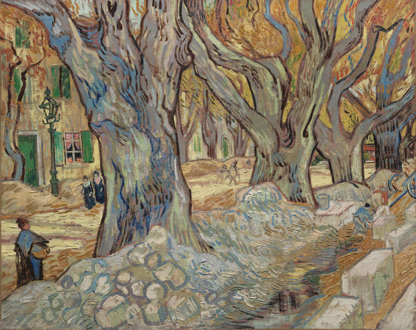 Vincent van Gogh, <em>The Large Plane Trees (Road Menders at Saint-Rémy)</em>, 1889