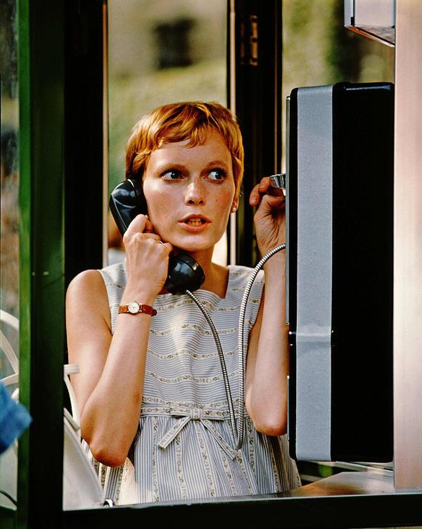 Mia Farrow in <em>Rosemary's Baby</em>