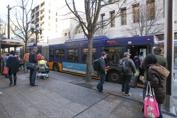 Low-income residents of the Seattle area can now ride public transit at reduced fares. (Courtesy of King County Metro Transit)