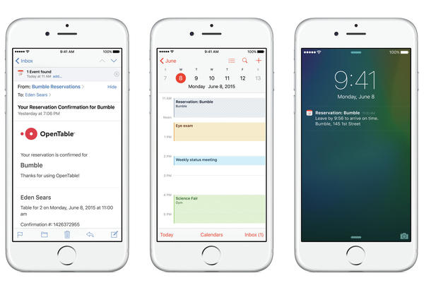 Apple's new Intelligence function will let an iPhone spot a reservation, suggest it in the calendar and then advise the user when to leave based on traffic conditions.