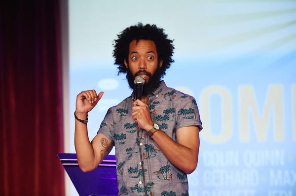 Comedian Wyatt Cenac performs onstage at the Vulture Festival Presents: Comedy Night at The Bell House on May 31 in Brooklyn, New York.