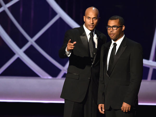 Onstage at the 66th Annual Primetime Emmy Awards held at Nokia Theatre L.A.