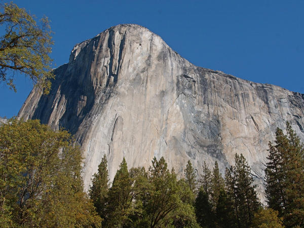 El Capitan in Yosemite National Park, California, is favorite for many rock climbers.