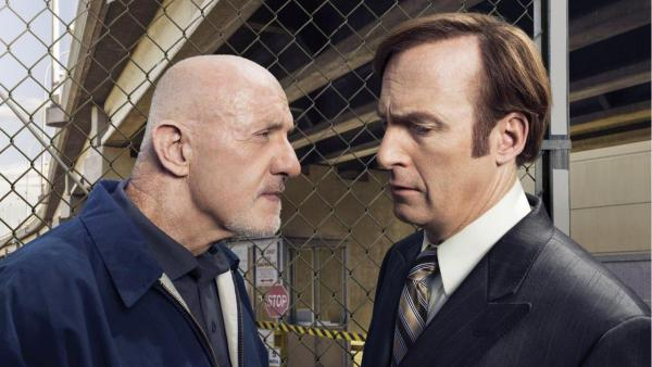 Jonathan Banks (left) and Bob Odenkirk star in the AMC series <em>Better Call Saul,</em> which tops David Bianculli's 2015 10-Best list.