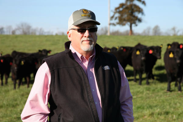 Cattle rancher Mike John runs a cow-calf operation in Huntsville, Mo., and says he hopes the Trans-Pacific Partnership trade deal will open up new markets for his beef.