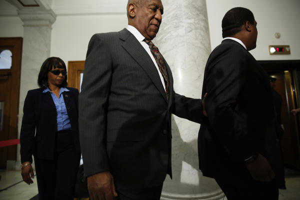 Bill Cosby arrives at the Montgomery County Courthouse for a preliminary hearing on Tuesday in Norristown, Pa. Cosby is accused of drugging and sexually assaulting a woman at his home in 2004.