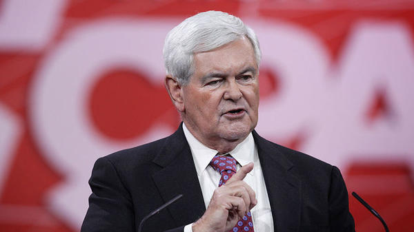 Newt Gingrich, seen in February, is the former speaker of the House.