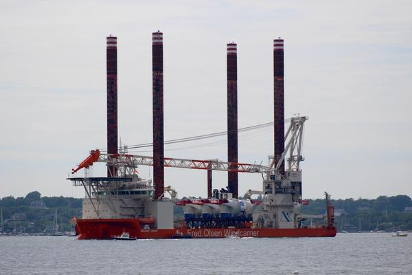 The nacelles, the turbine electrical hubs, arrived in Newport a couple of weekends ago on the Brave Tern vessel.