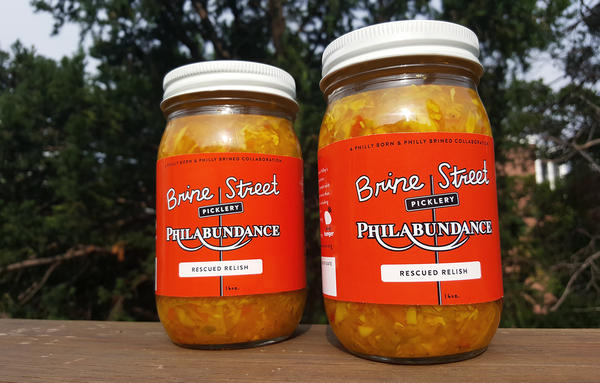 """Rescued Relish is an anything-goes condiment made from excess produce that <a href=""""https://www.philabundance.org"""">Philabundance</a>, a Philadelphia anti-hunger organization, can't move. The relish is modeled on a Pennsylvania Dutch chowchow recipe — a tangy mix of sweet, spicy and sour flavors."""