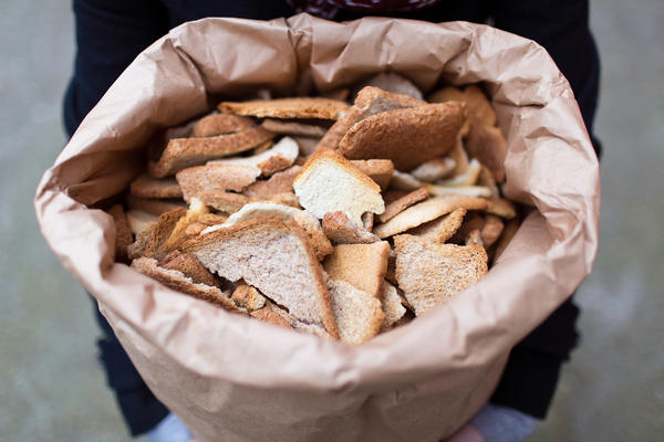 Toast Ale is made with those knobby, crusty heels on loaves of bread that often get sliced off of premade sandwiches.