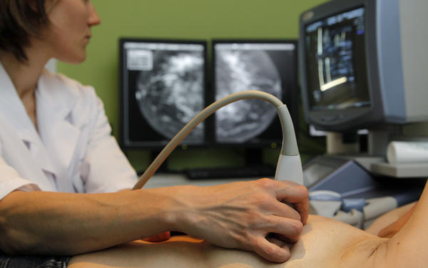 Following up a mammogram with an ultrasound exam can find more cancers. But the additional test can also find more false positives that aren't cancer at all.