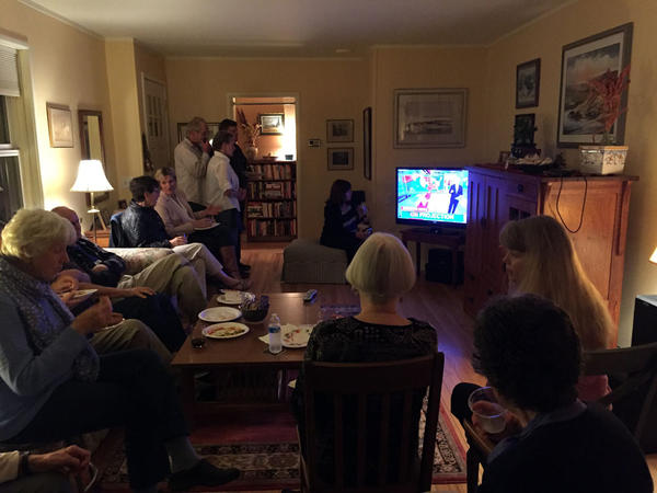 A Democratic house party in Richland, Washington, quickly thinned out as the elections returns showing strong numbers for Donald Trump came in.