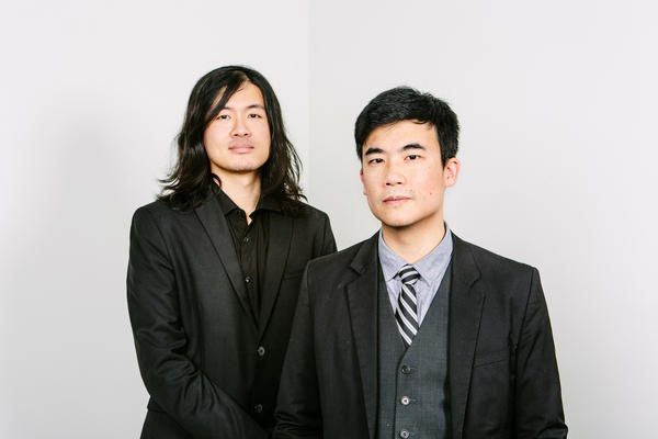 Joe Jiang (left) and Simon Tam of The Slants are in a legal battle at the Supreme Court over their band's name.
