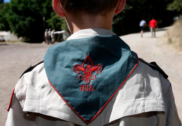 A Boy Scout listens to instruction at Camp Maple Dell in Utah.
