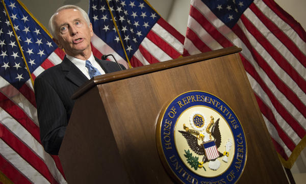 Former Kentucky Gov. Steve Beshear, seen on Capitol Hill in 2013, delivered the Democratic Party response to President Trump's speech to Congress on Tuesday night.