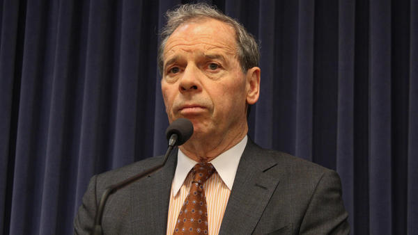 Senate President John Cullerton speaks with reporters after the 'grand bargain' failed to advance.