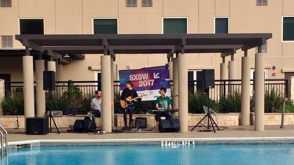 Pavvla plays a SXSW set poolside in Austin, Tex.