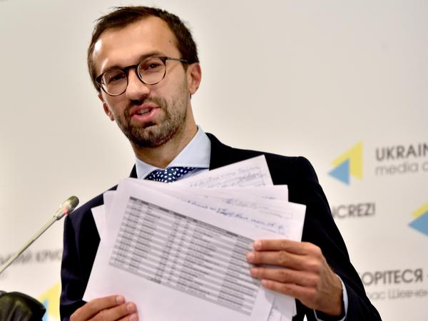 Ukrainian parliamentarian Serhiy Leshchenko released documents allegedly showing payments to Paul Manafort from former Ukrainian president Viktor Yanukovych.
