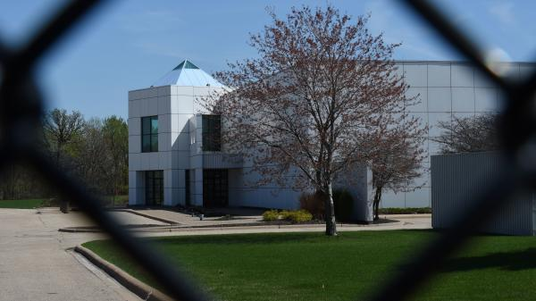 The entrance of the Paisley Park compound.