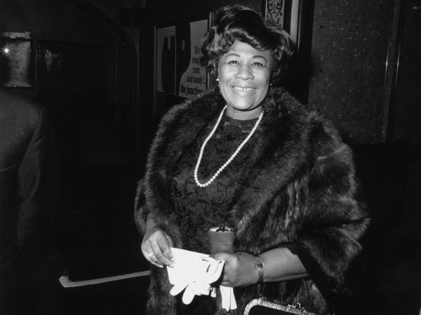 Jazz singer Ella Fitzgerald  during a 1958 visit to London.