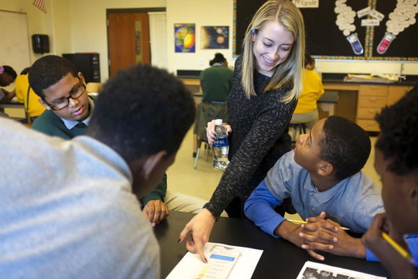 Katie Murray starts most school days with a social-emotional learning curriculum for her 7th grade class.