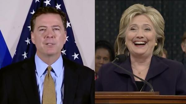 Someone on Streamable mashed up soundbites of James Comey and Hillary Clinton talking about Clinton's emails ... and it's surprisingly catchy.