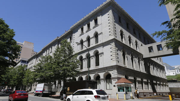 The 4th U.S. Circuit Court of Appeals building in Richmond, Va., was the site of a court hearing on President Trump's revised travel ban targeting six Muslim-majority countries earlier this month. A 13-judge panel has ruled that the ban should continue to be blocked.