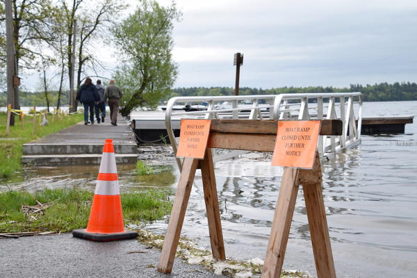 Closed boat ramp at Kring Point