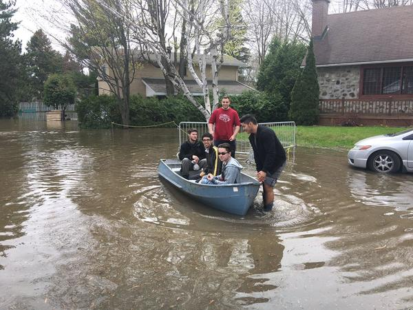 Flooding in Montreal