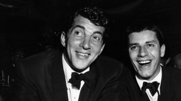 Dean Martin (left) and Jerry Lewis in 1953. They met in 1945, and over the next decade went on to become the highest-paid comedy act in the U.S.