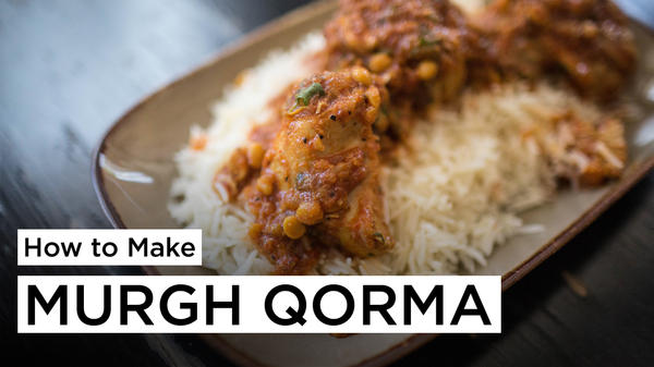 Learn how to make chicken korma, or murgh qorma, a dish often eaten at Iftar—the meal Muslims eat to break the fast each night during Ramadan—in Afghanistan.