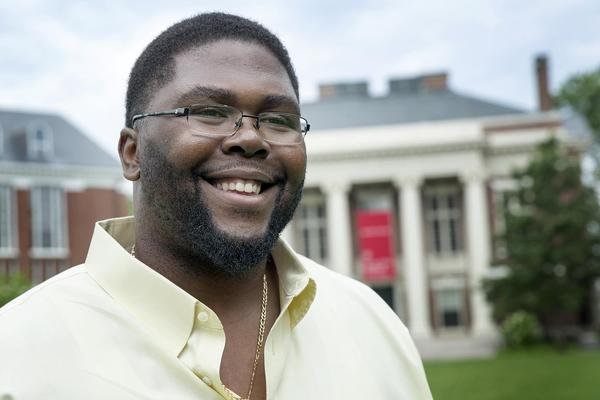 Anthony Jack, assistant professor of education at the Harvard Graduate School of Education. (Robin Lubbock/WBUR)