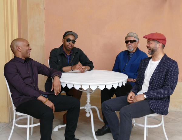 The Charles Lloyd New Quartet is, from left: Reuben Rogers, Eric Harland, Charles Lloyd and Jason Moran.