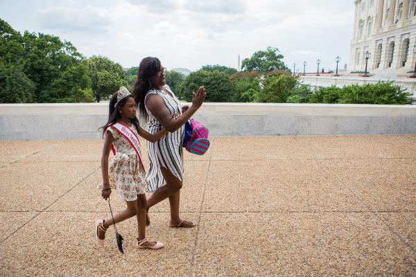 Tymia and her mother, Susie Pitts, head to the U.S. Capitol last week to lobby South Carolina lawmakers on health care, particularly the importance of Medicaid.