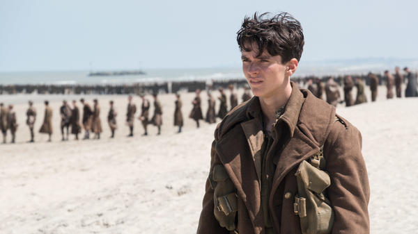 Fionn Whitehead plays Tommy, a British soldier awaiting evacuation, in Christopher Nolan's <em>Dunkirk</em>.