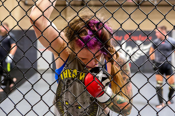 Concussions are just part of her sport, Mazany figures, but says she tries to protect herself, and to not give anyone else a head injury--at least in training.