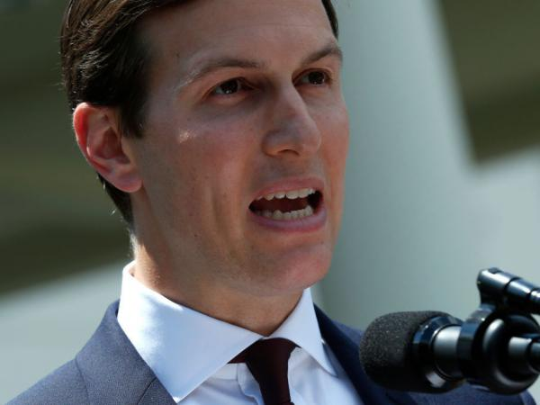 Jared Kushner, a senior adviser to President Trump, makes a statement at the White House Monday after being interviewed by the Senate Intelligence Committee in Washington, D.C.