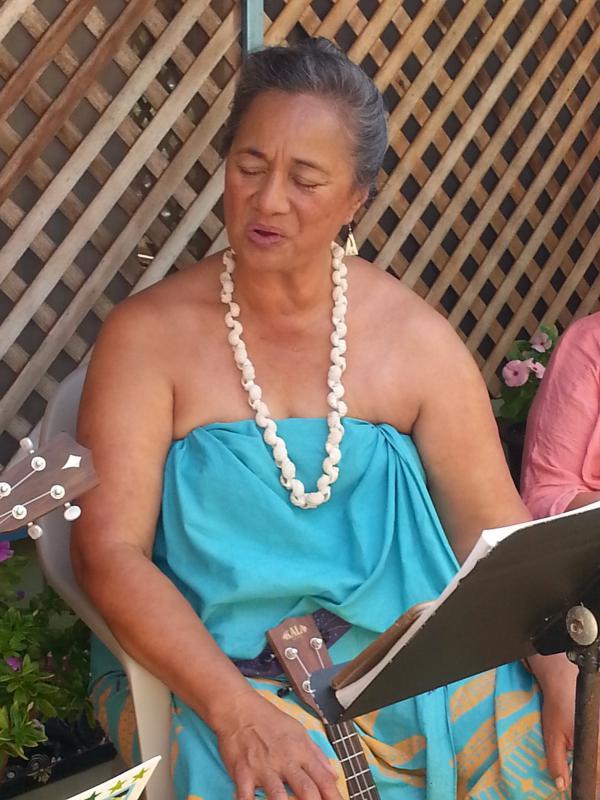 Sabra Kauka, seen singing, is a revered teacher of the island's Native Hawaiian culture.