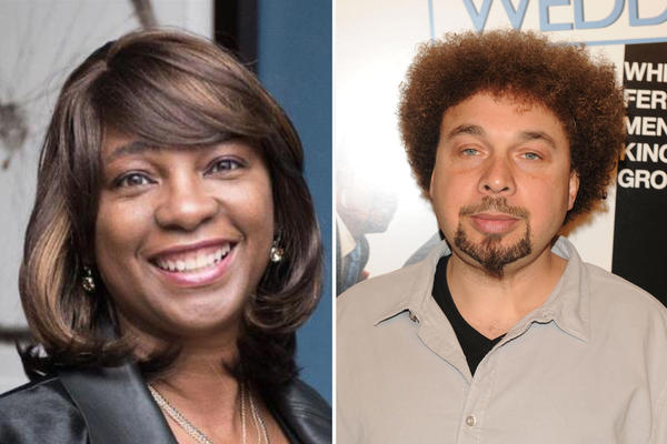 Nichelle Tramble Spellman (left) and her husband Malcolm Spellman are African American writers who are also executive producers on <em>Confederate.</em>