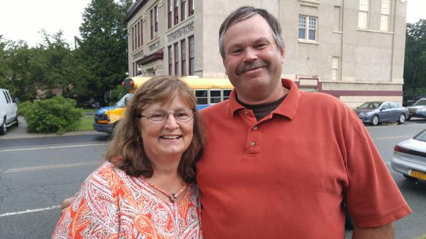 """Marcia and Dennis Bauchle are farmers from Watkins Glen, N.Y., who think the Russia story is an effort to tear down Donald Trump. """"Progressive liberals are just whining about everything,"""" Marcia says."""