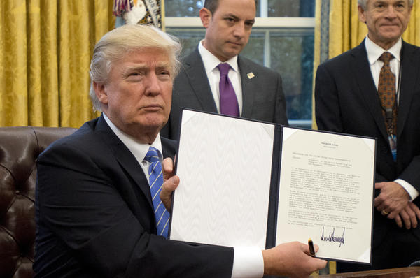 "President Trump holds an executive order in January imposing the ""Mexico City policy,"" which bans federal funds going to overseas organizations that perform or ""promote"" abortions. A fundraising effort initiated by a Dutch government minister has raised $300 million for affected organizations."